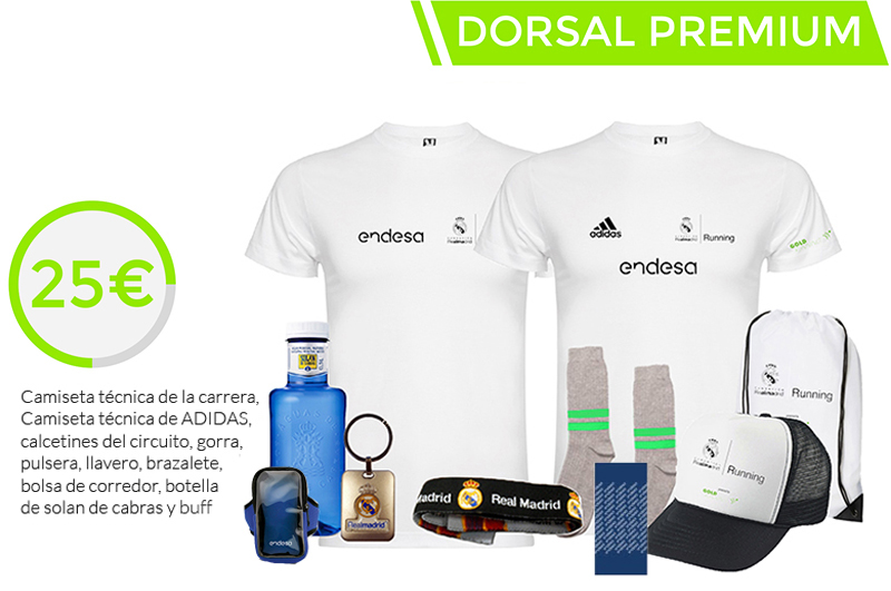 Running Real Madrid Dorsal Premium
